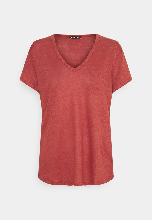T-shirt basic - cinnamon