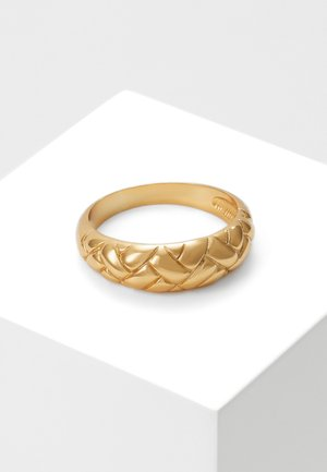 DOMED WAFFLE - Ring - pale gold-coloured