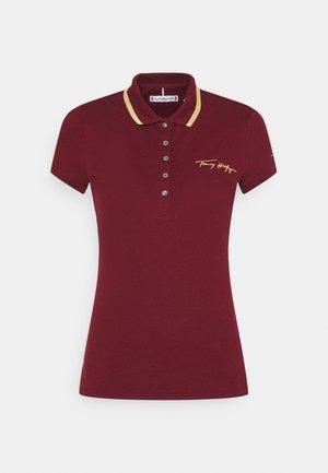 SLIM GOLD SCRIPT - Polo shirt - deep rouge