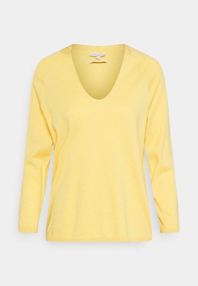 V NECK - Maglione - mellow yellow