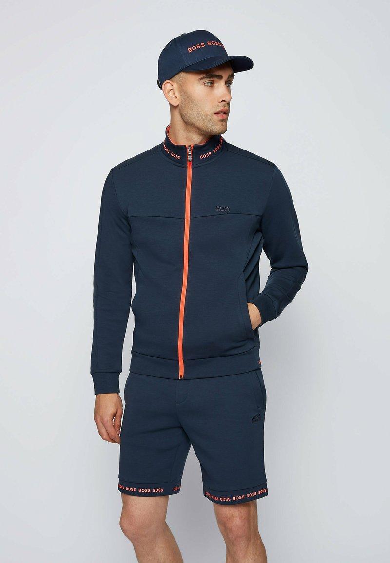 BOSS - SKAZ - Zip-up sweatshirt - dark blue
