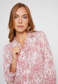 Lauren Ralph Lauren - CLASSIC NOTCH COLLAR SLEEPSHIRT - Noční košile - red - 3