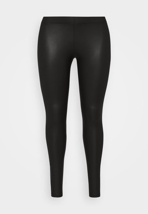 PCNEW SHINY - Leggings - black