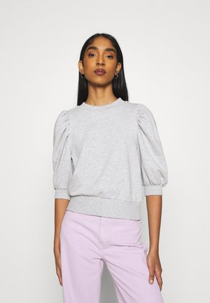 ONLBALOU LIFE ONECK - Basic T-shirt - light grey melange
