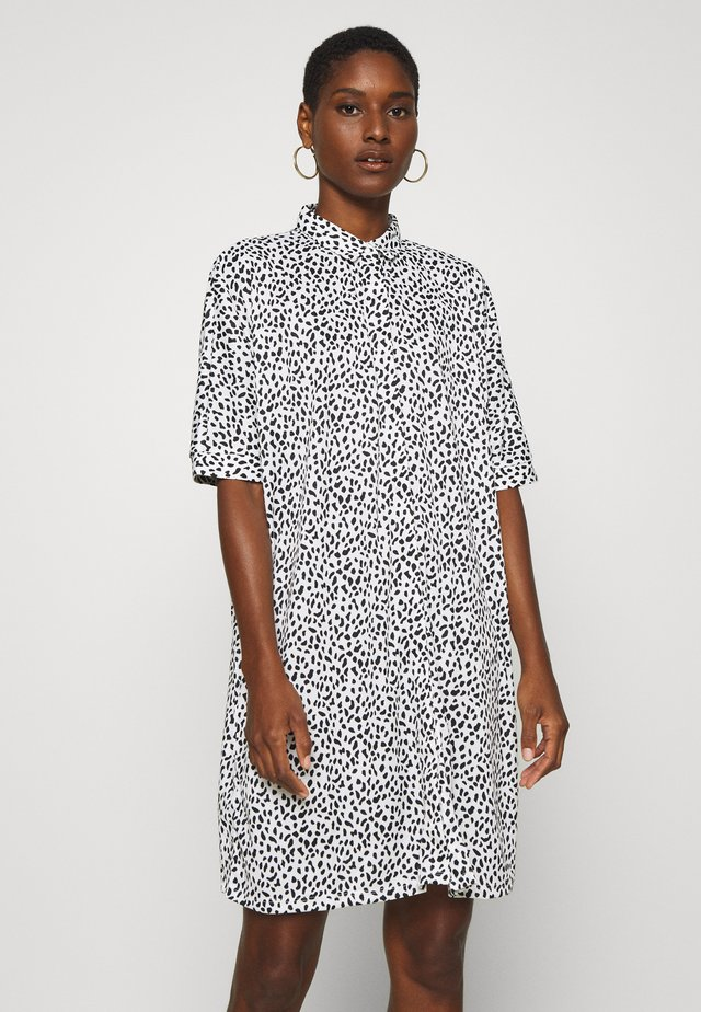 Shirt dress - white/black