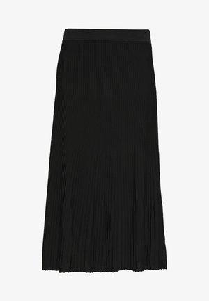 PLEAT MIDI SKIRT - A-line skirt - black