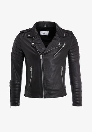 HIPSTER  - Leather jacket - brown
