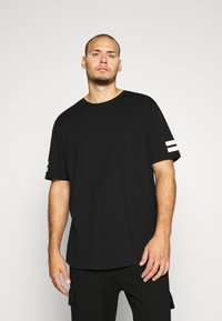 Jack & Jones - JCOBORO TEE CREW NECK - T-shirt print - black - 0