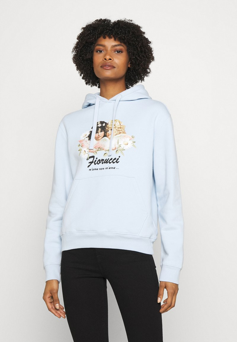 Fiorucci - DAISY ANGELS HOODIE - Mikina - pale blue