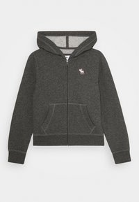 Abercrombie & Fitch - CORE - Hoodie met rits - heather grey - 0