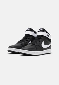 Nike Sportswear - COURT BOROUGH MID 2 UNISEX - Sneakers hoog - black/white - 1