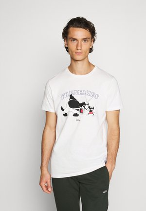 JORPETE - T-shirt med print - cloud dancer