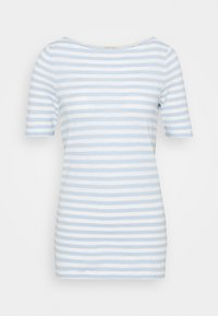 Marc O'Polo - SHORT-SLEEVE BOAT-NECK STRIPED - T-shirts med print - light blue - 0
