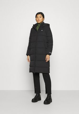 PEACHED LONG PUFFER - Cappotto invernale - black