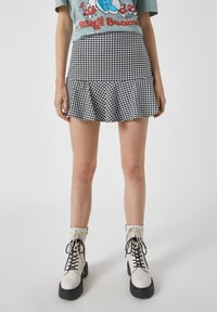 PULL&BEAR - Mini skirt - mottled black - 4