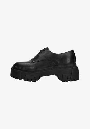 SCHWARZE SCHNÜRSCHUHE MIT PLATEAUSOHLE - Platform boots - schwarz