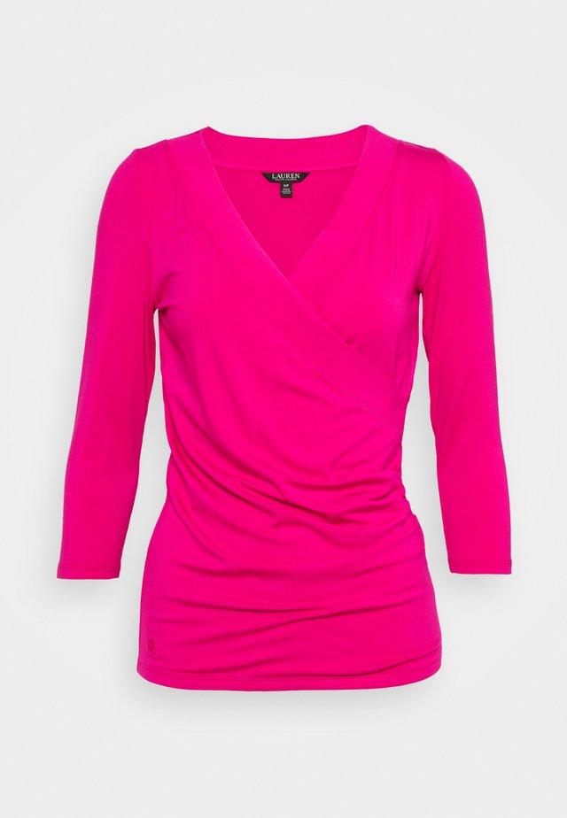 Top sdlouhým rukávem - nouveau bright pink