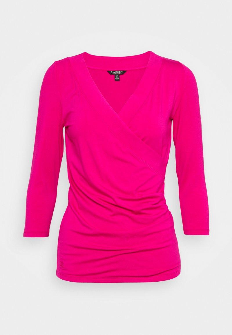 Lauren Ralph Lauren - Top sdlouhým rukávem - nouveau bright pink