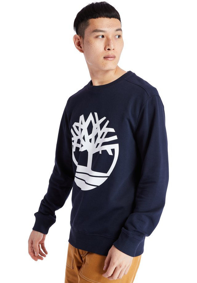 CORE TREE LOGO CREW - Collegepaita - dark sapphire-white