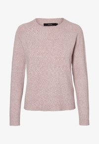 Vero Moda - VMDOFFY O NECK - Strickpullover - Woodrose