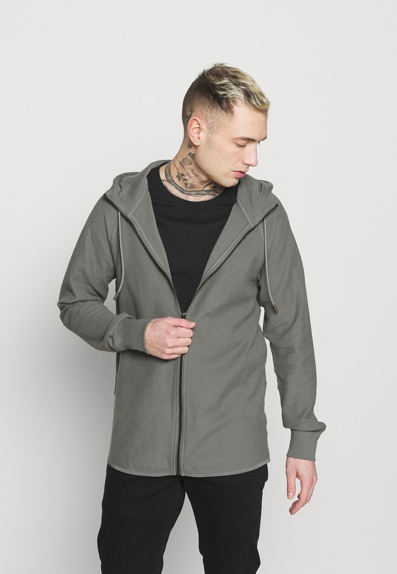 G-Star - TONAL JIRGI HOOD  - Zip-up hoodie - honeycomb jersey io - gs grey