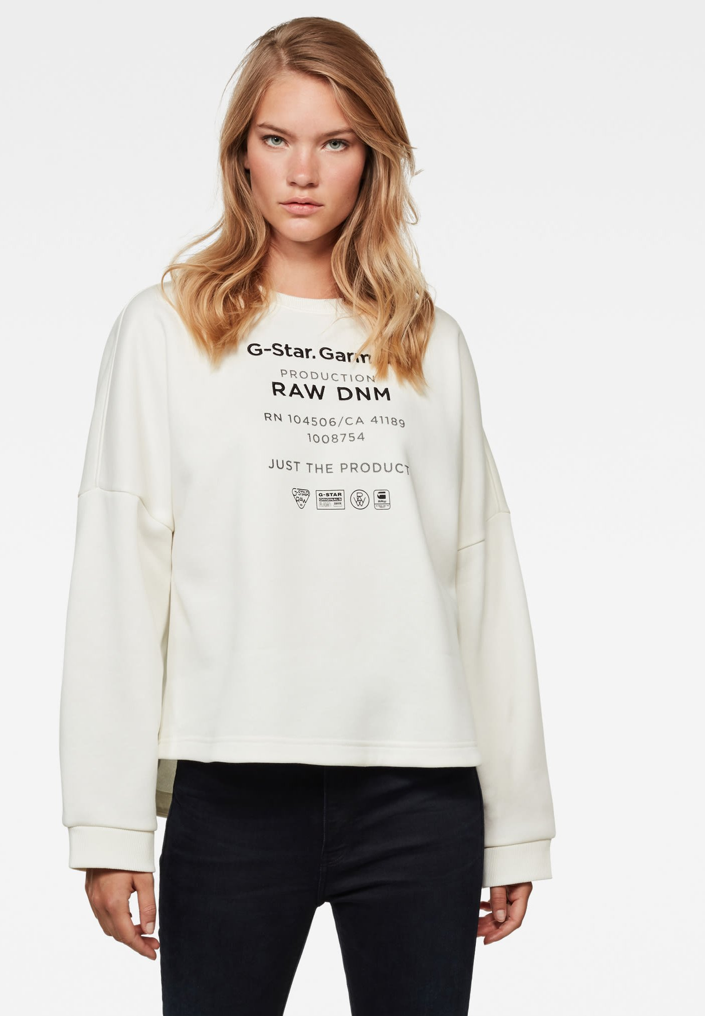 Femme GRAPHIC TEXT RELAXED ROUND LONG SLEEVE - Sweatshirt