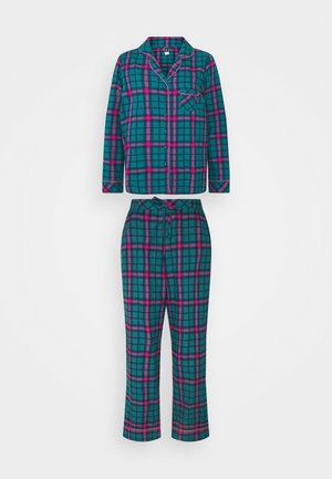 COSY CHECK SET - Pigiama - green/pink