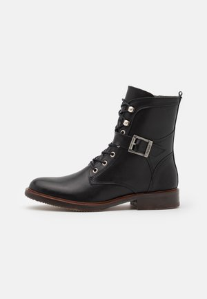 TASMIN - Šněrovací kotníkové boty - black
