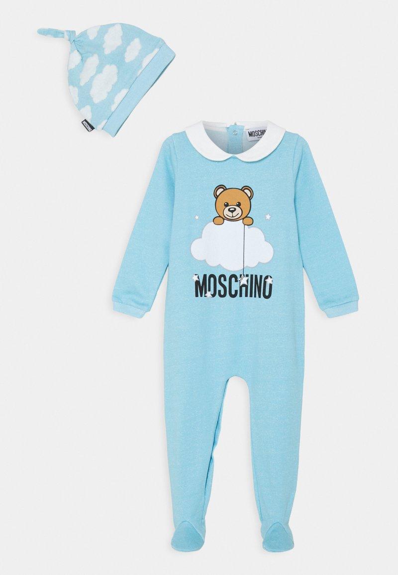 MOSCHINO - BABYGROW HAT GIFT SET UNISEX - Čepice - baby sky blue