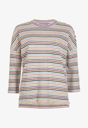 OTTILIE  - Long sleeved top - bunt/metallic regenbogenfarbene streifen