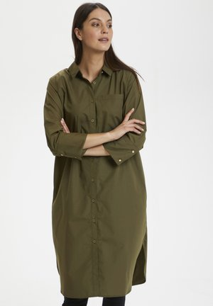 Shirt dress - grape leaf
