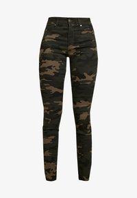 ONLY - ONLNINE ESTER LIFE - Trousers - peat/crocoblack - 5