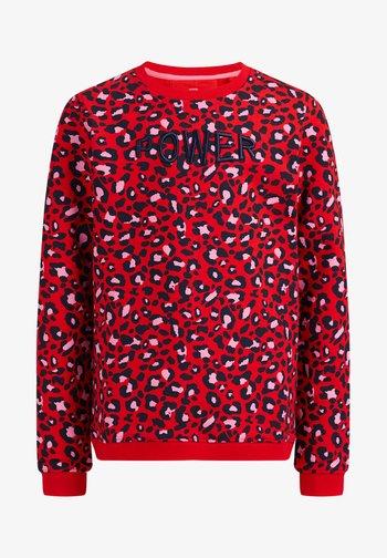 MET  LUIPAARDDESSIN - Sweatshirt - red