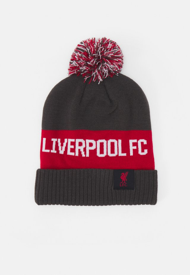 LIVERPOOL FC POM BEANIE UNISEX - Pipo - anthracite/gym red