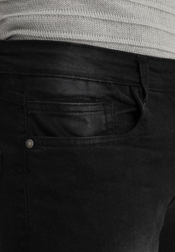 Brave Soul BIKERCHAR - Jeansy Skinny Fit - charcoal/czarny Odzież Męska LGGL