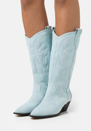 WANNA KNOW U - Cowboy/Biker boots - blue