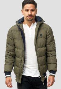 INDICODE JEANS - REGULAR  FIT - Winter jacket - dark green - 3