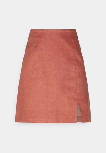CAROLINA SPLIT MINI SKIRT - Minisukně - terracotta rose