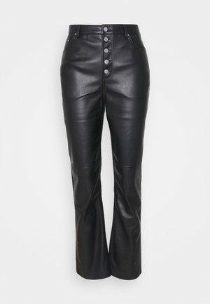 BUTTON CLOSURE PANTS - Broek - black