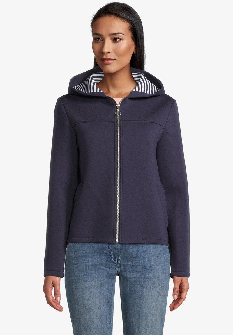 Amber & June - Zip-up sweatshirt - mittelblau
