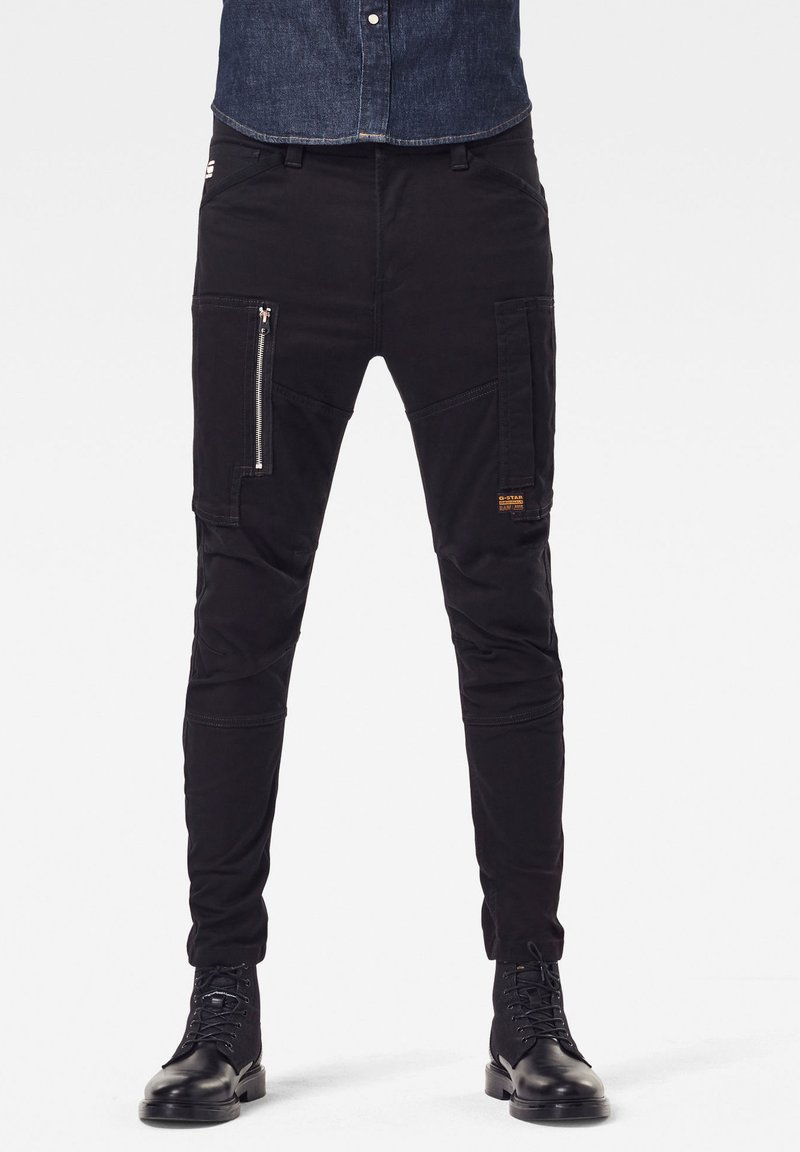 G-Star - FLIGHT CARGO 3D SKINNY - Cargo trousers - dk black