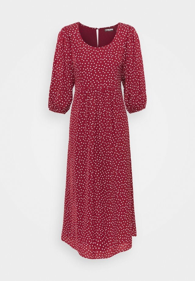 AMAR - Day dress - burgundy/polka