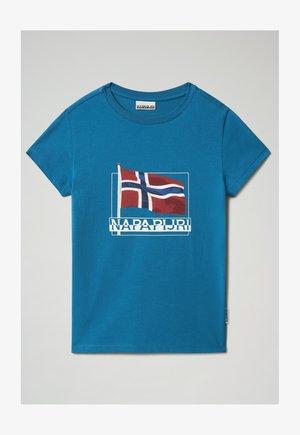 SEJI - Print T-shirt - mykonos blue