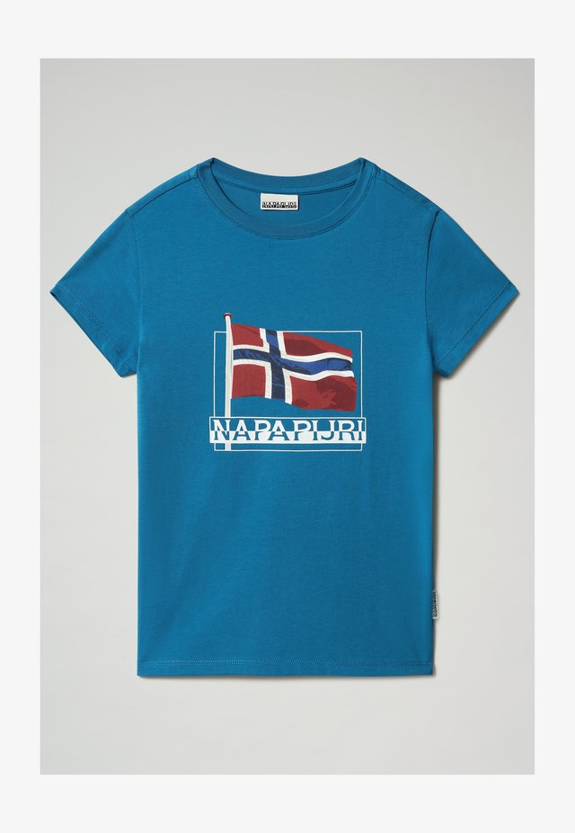 SEJI - T-shirt print - mykonos blue