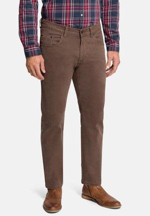 POCKET RANDO - Straight leg jeans - braun