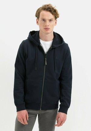 MIT KAPUZE - Sweater met rits - night blue
