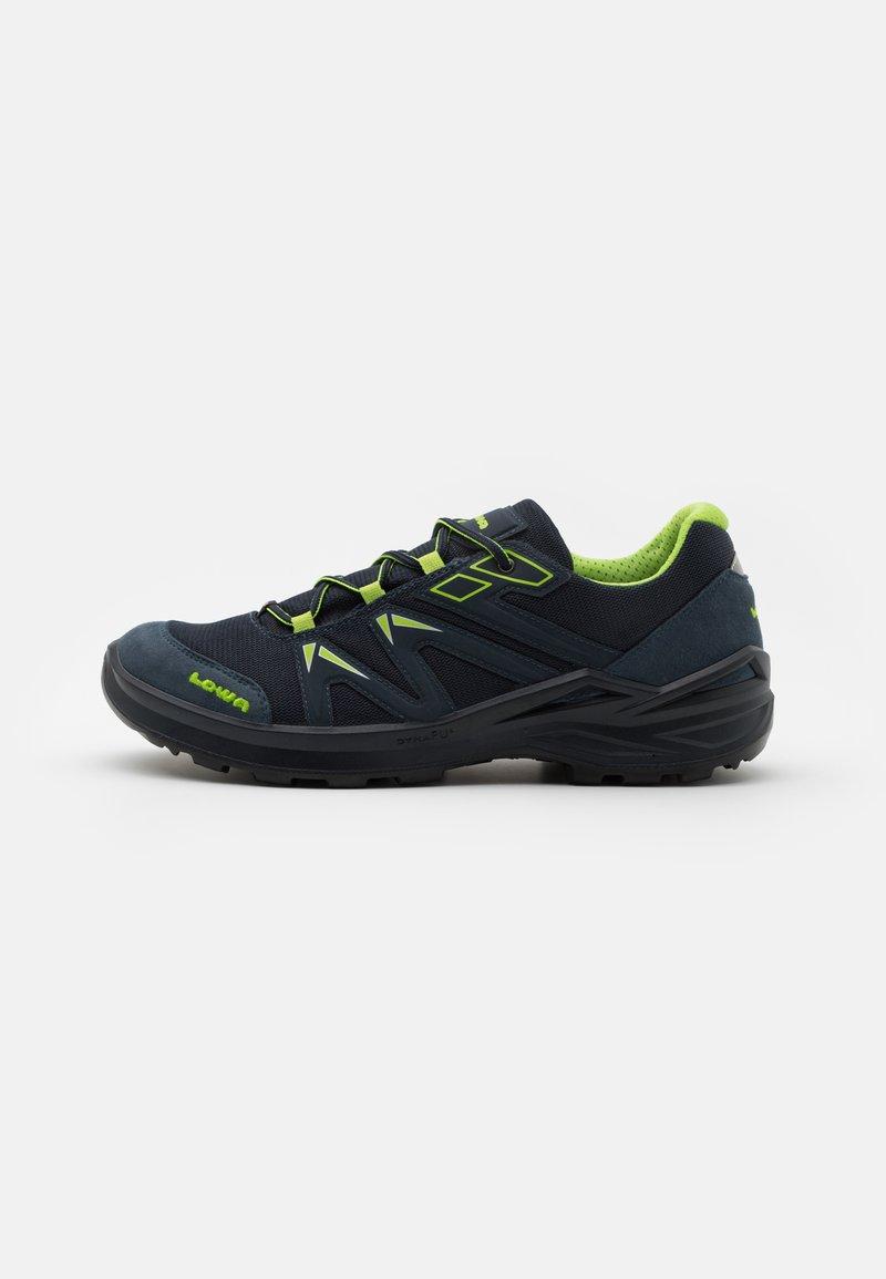 Lowa - INNOX PRO GTX LO LACING UNISEX - Hiking shoes - stahlblau/limone