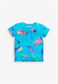 Next - T-shirt con stampa - blue - 0