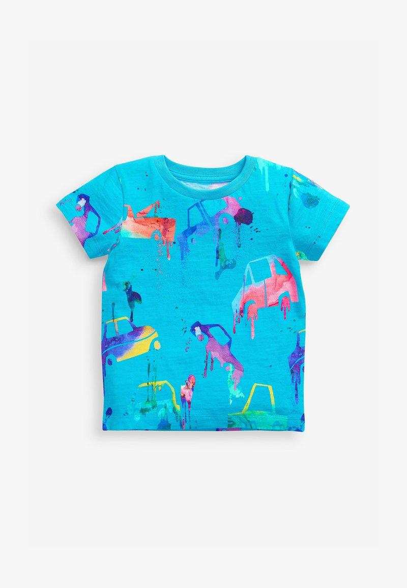 Next - T-shirt con stampa - blue