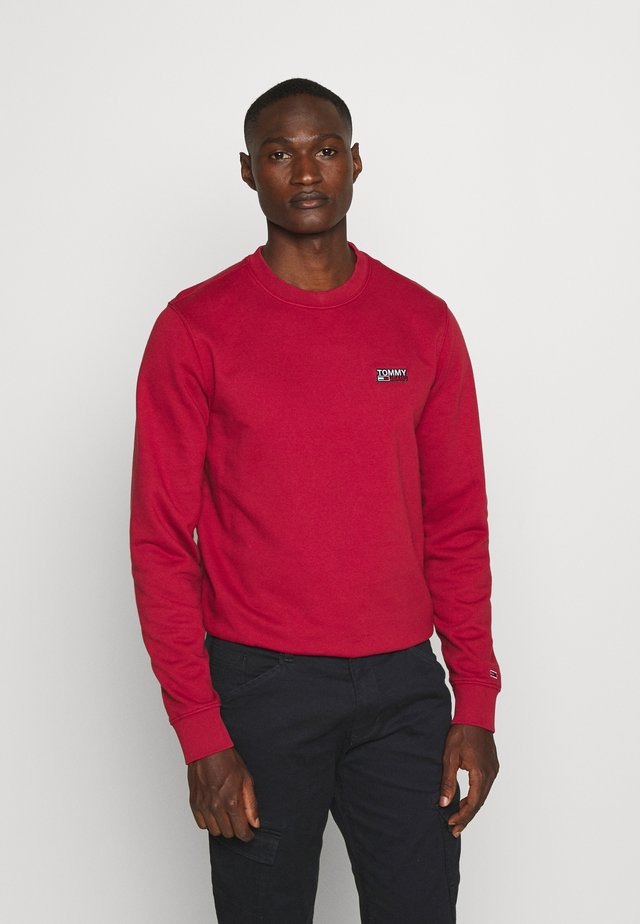 TJM WASHED CORP LOGO CREW - Sweatshirt - wine red